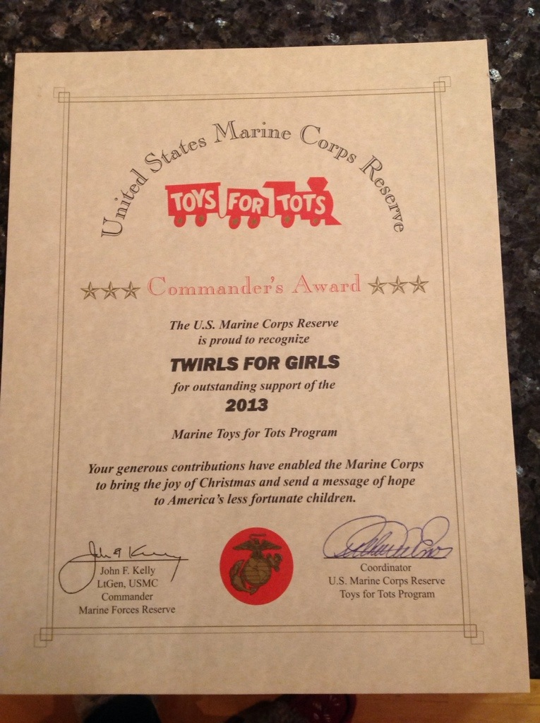 Blank Certificate Toys For Tots : Award from toys for tots sew fun lol